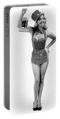 1950s Full Length Portrait Of Blond Portable Battery Charger