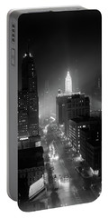 1950s Night Aerial Chicago Illinois Portable Battery Charger