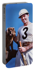 1950s Smiling Man Polo Player Posing Portable Battery Charger