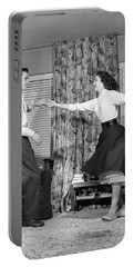 1950s Teen Boy And Girl Jitterbug Portable Battery Charger
