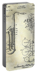 1951 Saxophone Patent Drawing Portable Battery Charger