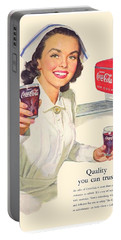 1952 - Coca-cola Advertisement - Color Portable Battery Charger