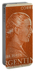1952 Eva Peron Argentina Stamp Portable Battery Charger by Bill Owen