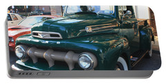 1952  Ford Pick Up Truck Front And Side View Portable Battery Charger by John Telfer