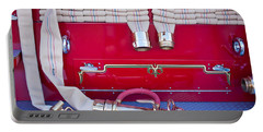 1952 L Model Mack Pumper Fire Truck Hoses Portable Battery Charger by Jill Reger