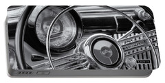 1953 Buick Super Dashboard And Steering Wheel Bw Portable Battery Charger