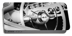 1953 Chevrolet Corvette Steering Wheel Emblem -1400bw Portable Battery Charger