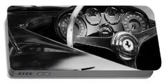 1954 Ferrari 500 Mondial Spyder Steering Wheel Emblem Portable Battery Charger by Jill Reger