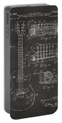 1955 Mccarty Gibson Les Paul Guitar Patent Artwork - Gray Portable Battery Charger by Nikki Marie Smith
