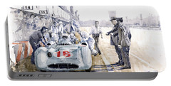 1955 Mercedes Benz W 196 Str Stirling Moss Italian Gp Monza Portable Battery Charger