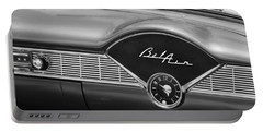 1956 Chevrolet Bel Air Convertible Painted Bw Portable Battery Charger