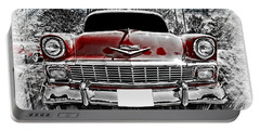 Portable Battery Charger featuring the photograph 1956 Chevy Bel Air by Aaron Berg