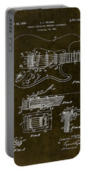 1956 Fender Tremolo Patent Drawing II Portable Battery Charger by Gary Bodnar