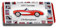 1957 Chevrolet Corvette Art Portable Battery Charger by Jill Reger