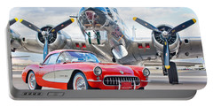 1957 Chevrolet Corvette Portable Battery Charger by Jill Reger