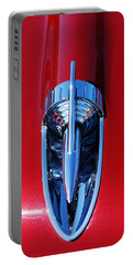 1957 Chevy Belair Hood Rocket Portable Battery Charger by Jani Freimann