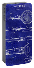 1957 Landing Net Patent Drawing Blue Portable Battery Charger