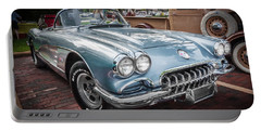 1958 Chevy Corvette Painted Portable Battery Charger