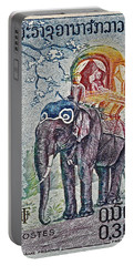 1958 Laos Elephant Stamp Portable Battery Charger by Bill Owen