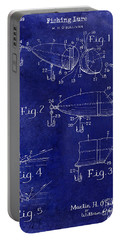 1959 Fish Lure Patent Drawing Blue Portable Battery Charger
