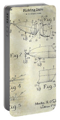 1959 Fish Lure Patent Drawing  Portable Battery Charger