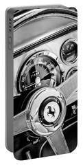 1960 Ferrari 250 Gt Cabriolet Pininfarina Series II Steering Wheel Emblem -1319bw Portable Battery Charger