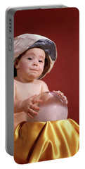 1960s Baby With Fortune Teller Turban Portable Battery Charger