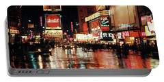 1960s Circa 1967 Wet Street And Neon Portable Battery Charger