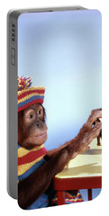 1960s Funny Humorous Orangutan Pongo Portable Battery Charger
