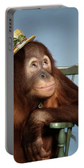 1960s Orangutan Pongo Pygmaeus Sitting Portable Battery Charger