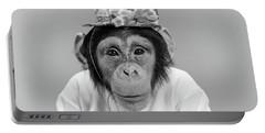 1960s Portrait Monkey Chimpanzee Portable Battery Charger