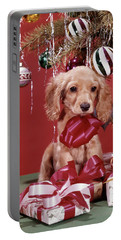 1960s Spaniel Puppy Christmas Present Portable Battery Charger