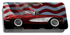 1961 Corvette Tribute Portable Battery Charger by Peter Piatt