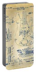 1961 Fender Guitar Patent Artwork - Vintage Portable Battery Charger
