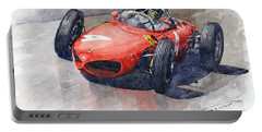 1961 Germany Gp Ferrari 156 Phil Hill Portable Battery Charger