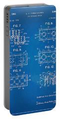 1961 Lego Brick Patent Artwork - Blueprint Portable Battery Charger