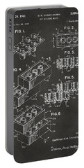 1961 Toy Building Brick Patent Art - Gray Portable Battery Charger