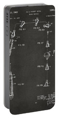 1963 Space Capsule Patent Gray Portable Battery Charger