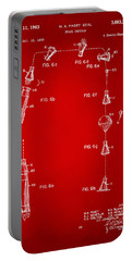 1963 Space Capsule Patent Red Portable Battery Charger by Nikki Marie Smith