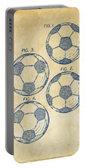 1964 Soccerball Patent Artwork - Vintage Portable Battery Charger by Nikki Marie Smith