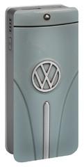 1965 Volkswagen Beetle Hood Emblem Portable Battery Charger by Jani Freimann