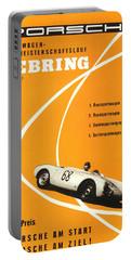 1968 Porsche Sebring Florida Poster Portable Battery Charger
