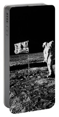 1969 Astronaut Us Flag And Leg Of Lunar Portable Battery Charger