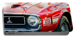 1969 Shelby Cobra Gt500 Front End - Grille Emblem Portable Battery Charger by Jill Reger