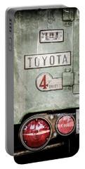 1969 Toyota Fj-40 Land Cruiser Taillight Emblem -0417ac Portable Battery Charger