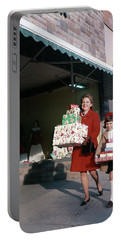 1970 1970s Mother Daughter Carrying Portable Battery Charger