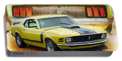 1970 Boss 302 Mustang Portable Battery Charger