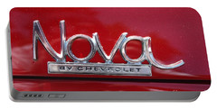 1970 Chevy Nova Logo Portable Battery Charger by John Telfer