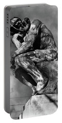 1970s Bronze Statue Of Rodins Thinker Portable Battery Charger