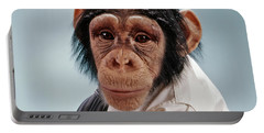 1970s Close-up Face Chimpanzee Looking Portable Battery Charger